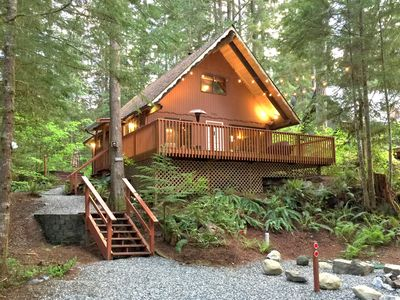 Photo for Snowline Cabin #98 A pet friendly cabin with a wood stove, hot tub and wifi!