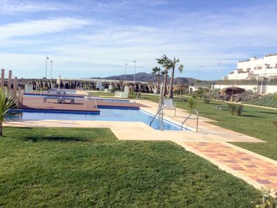 Photo for San Juan de Los Terreros Mar de Pupli by the sea. Heated swimming pool and sauna