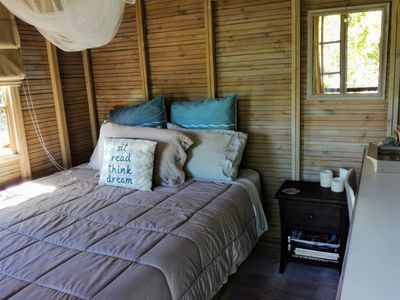 Photo for Glamping in a sweet cabin  overlooking lagoon