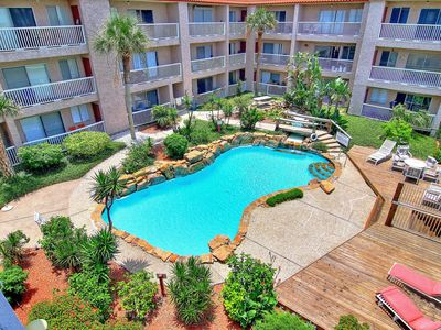 Photo for Canal-front condo w/ water views & shared pool! Near beach, snowbirds welcome!