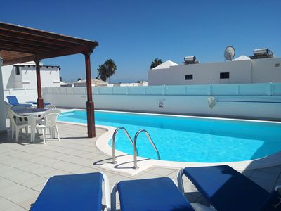 Photo for CASA JUAN, 3 bedrooms with aircon  , 2 bath, Private  pool  heated in winter