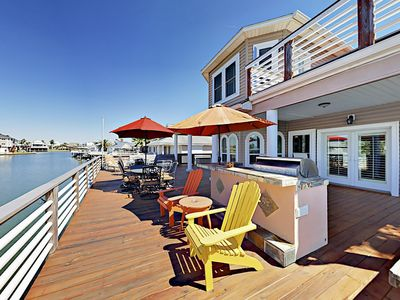 Jamaica Beach Home w/ Private Pool, Hot Tub, Outdoor Kitchen & Bay Views