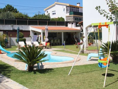 Photo for Duplex with Pool Villa in Sesimbra beautiful deck and barbecue area