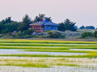 Photo for Private Island Cottage Overlooking Bogue Inlet - Canoe and Kayak access only