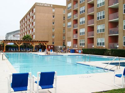 Photo for Gulfview II #210 Luxurious condo next to Schlitterbahn, 3 min. walk beach access
