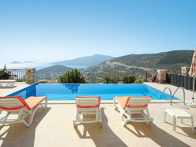 Photo for 4 bedroom Villa, sleeps 6 in Kalkan with Pool, Air Con and WiFi
