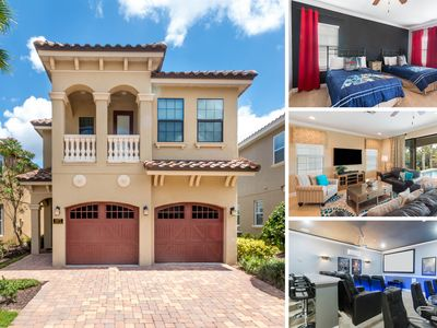 Photo for 5 Bed Villa featuring a Private  with BBQ Grill, Theater/Games Room, Golf View