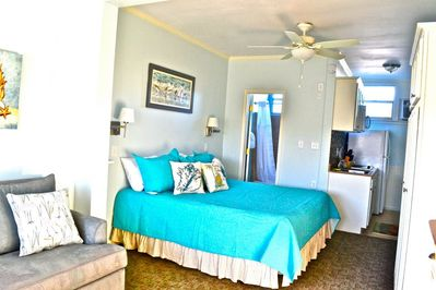 Relax in your cozy cabana after a fun day at the beach!