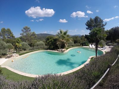 Photo for Provence House 2/4 people on 7 ha heated pool