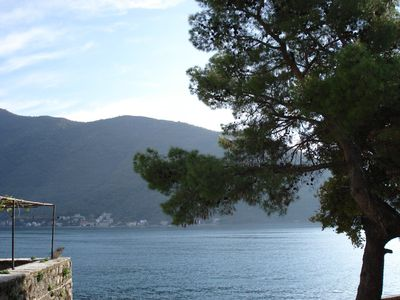 Photo for Perast, Montenegro: : Beautiful stone apartment only 10 meters from the Bay