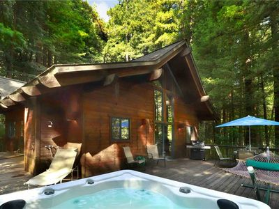 Photo for AUSTIN CREEKSIDE RETREAT: Redwoods | Hot Tub | Creek Beach