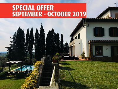 Photo for Special Offer October -Villa, 5 ensuite BR, pool, WIFI, Chianti, Florenc
