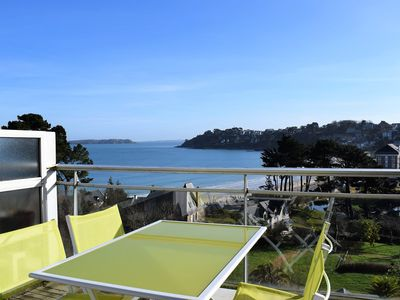 Photo for Apartment 2/4 pers EXCEPTIONAL SEA VIEW with terrace in PERROS-GUIREC