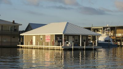 """Photo for The New Miss Yellowfin House Boat. The """"Cajun Biltmore"""" of Venice Marina."""
