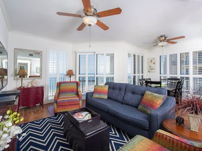 Photo for On the beach with beautiful Gulf views * 3/2 West Corner Unit
