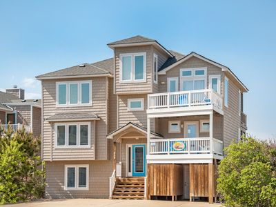 Photo for OBX Waves: One lot from the ocean, ocean views and a community pool and tennis court.