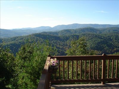 Breathtaking view from the deck!