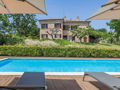 Photo for Villa La Fonte 14 with pool in the hills of Ripatransone, just 15 minutes from the Adriatic Sea