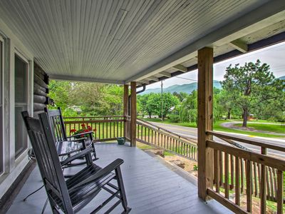 Photo for NEW! Hot Springs Cabin w/Hot Tub, Fire Pit & Porch
