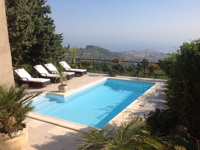 Photo for Outstanding Sea & Mountain Views by day & night. Private Pool, jacuzzi