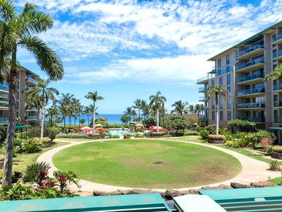 Photo for K B M Hawaii: Ocean Views, X X L Lanai 2 Bedroom, FREE car! Sep & Oct Specials From only $251!