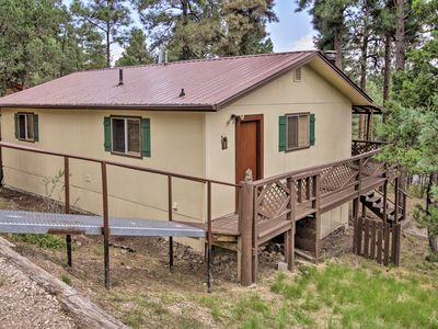Photo for Cozy Ruidoso Ski Cabin w/ Covered Deck & Fireplace