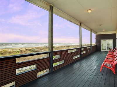 Photo for Direct beachfront 4 bedroom home with endless open concept ocean views