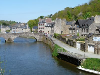 Photo for Riverside apartment with sunny garden on the port of Dinan