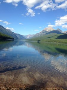 Bowman Lake located in Glacier Park.  We love to kayak here.