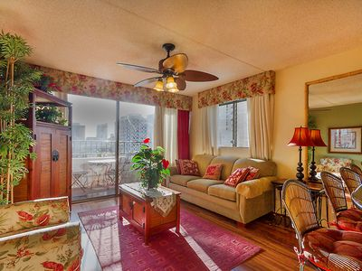 Photo for Heart of WAIKIKI,1BR CRN UNIT, NOT A STUDIO, FREE PRKG, WIFI, CALLS, CITY VIEW !