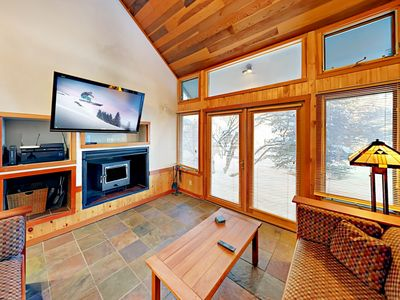 Photo for Epic Mountain Views & Private Hot Tub – Across From Lift