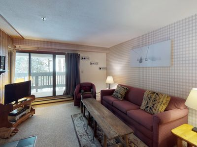 Photo for NEW LISTING! Mountain view condo w/shared pools/hot tub-walk to ski lifts