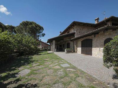 Photo for Country house in the Piacenza hills, in a fenced park with a large swimming pool