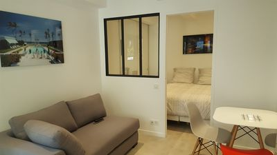 Photo for Apartment living and 1 bedroom in front of Garden MARAIS