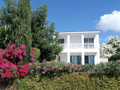 Photo for Luxury villa, stunning views, in the heart of the village, close to Coral Bay.