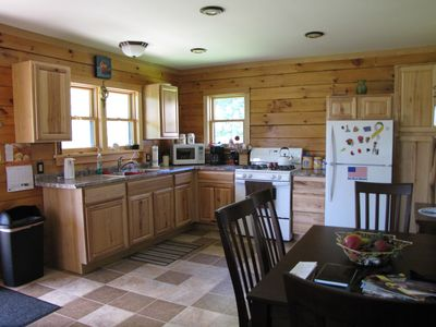 Full kitchen w/ dining area and the convenience of a home cooked meal.