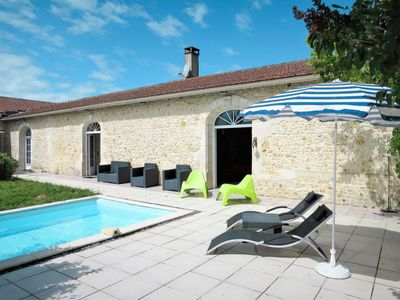 Photo for Queyrac Holiday Home, Sleeps 10 with Pool, Air Con and Free WiFi