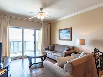 Photo for Updated Beachfront Condo with Private Balcony Overlooking the Gulf! Great Resort