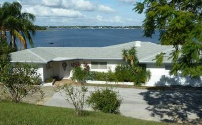Super View on #1 lake from home on bluff 35' above private 500' white sand beach