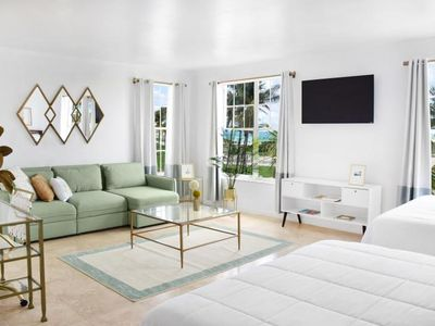 Photo for FANTASTIC STUDIO SUITE FOR 4 GUESTS ON OCEAN DRIVE. 1 MIN TO THE BEACH!