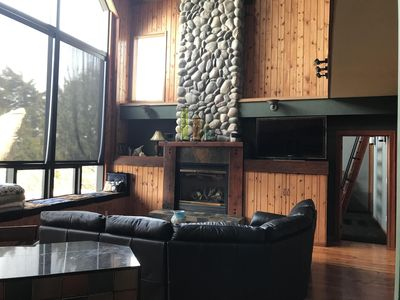 1st floor Living room with fireplace