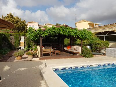 Photo for Spacious family villa, fabulous pool terrace, summer house, bbq, free wifi