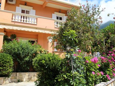 Photo for Holiday apartment directly at the sea, fantastic sea view | Paramonas, Corfu