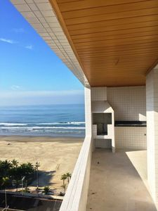 Photo for Apartment with sea view in Praia Grande, only 50 mts from the beach.