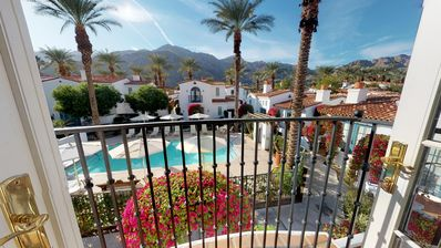Photo for An Upstairs Studio Spa Villa with a King Bed and Western Mountain Views!