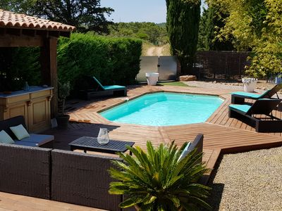 Photo for House Swimming pool in the middle of the vines
