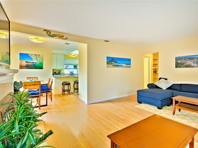 Photo for Family Friendly, 2 Lg Patio's, Walk to Beach, LARGE HOT TUB and Fire Chat Table