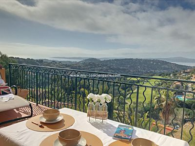 Photo for Apartment, Sainte-Maxime, exceptional view, proximity to golf course, swimming pool