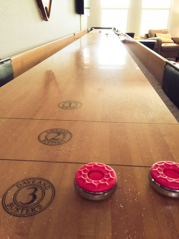 22 Foot Shuffleboard Table From Dave And Busteru0027s. We Got It When They  Remodeled