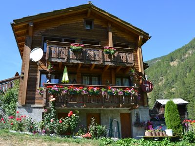 Photo for Typical Valais house, 3.5 room apartment *** for 2-6 persons in Saas-Balen